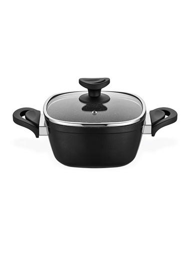 Schafer Granit Gastronomie Derin Tencere 24 Cm Siyah Siyah